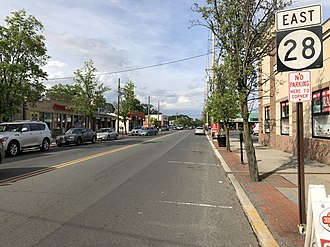 Dunellen, New Jersey - Route 28 in Dunellen