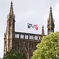 2018-07-15 Worcester Cathedral flying the Black Country Flag (cropped).jpg