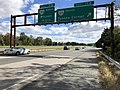 2018-10-24 12 22 09 View east along Virginia State Route 267 (Dulles Toll Road) at Exit 19A (Virginia State Route 123 SOUTH, Tysons Corner) in Tysons Corner, Fairfax County, Virginia.jpg