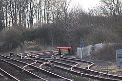2018 at Gobowen station - the junction and sidings.JPG