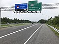 2019-06-05 16 18 49 View east along Interstate 195 (Metropolitan Boulevard) at Exit 2A (Maryland State Route 295 NORTH-Baltimore-Washington Parkway, Baltimore) in Linthicum, Anne Arundel County, Maryland.jpg