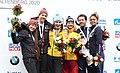2020-03-01 Medal Ceremony Skeleton Mixed Team competition (Bobsleigh & Skeleton World Championships Altenberg 2020) by Sandro Halank–036.jpg