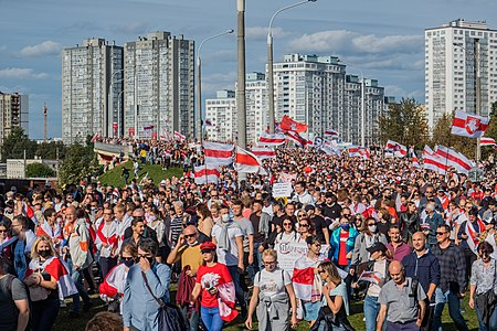"""Heroes March"" in Minsk, 13 September 2020 2020 Belarusian protests -- Minsk, 13 September p0007.jpg"