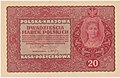20 marek polskich 1919 sierpień awers.jpg