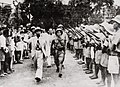 26-8-1945 Vo Nguyen Giap reviewing the People's Army.jpg