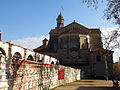 278 Plaça Colomer, ruïnes de l'Odèon i absis de Sant Pere (Canet de Mar).JPG
