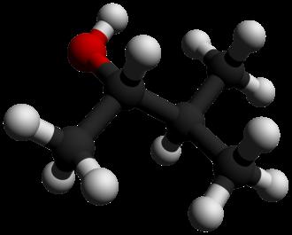 3-Methyl-2-butanol - Image: 3 Methyl 2 butanol 3D balls by AHRLS 2012