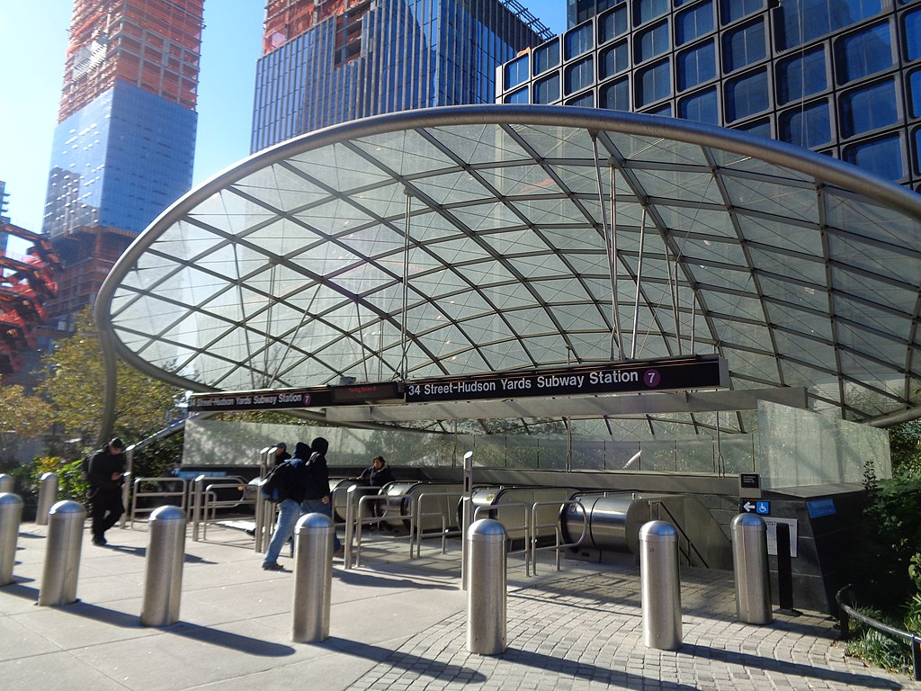 hudson yards, subway, 34th street hudson yards subway station, 7 train