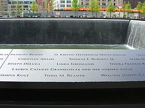 Lauren Grandcolas - Grandcolas' name and her unborn child are memorialized on Panel S-68 of the South Pool of the National September 11 Memorial.