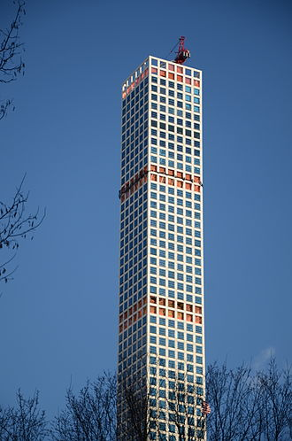 432 Park Avenue - Image: 432 Park Avenue tower under construction 2015