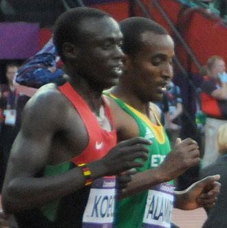 Isiah Koech - Koech (left) at the 2012 Summer Olympics