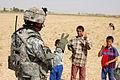 52nd Infantry Regiment, 2nd Stryker Brigade Combat Team - Teaches peace sign.jpg