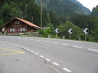 Gadmen - A Postauto station in Gadmen