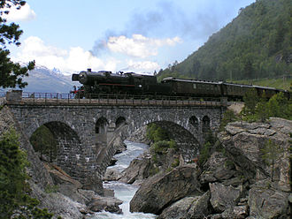 Rail transport in Norway - A Class 63 steam engine