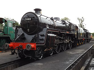 BR Standard Class 5 - Image: 73082 Camelot on shed