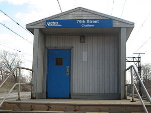 79th Street (Chatham) station - Image: 79th Street Chatham Metra Station