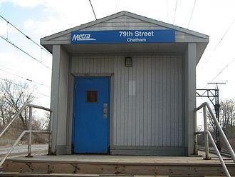 79th Street (Chatham) station - Image: 79th Street Chatham Metra Station