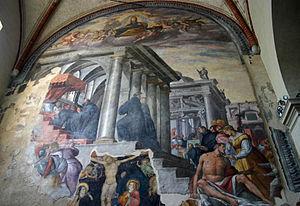 San Marco, Milan - Image: 8489 Milano San Marco Fiammenghini Alessandro IV istituisce gli agostiniani Foto Giovanni Dall'Orto 14 Apr 2007a