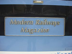 Modern Railways - Image: 90006 nameplate