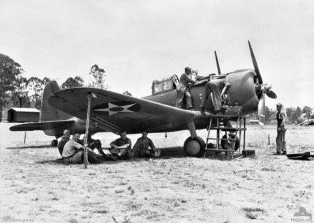 A-24 27th BG being assembled Australia 1942