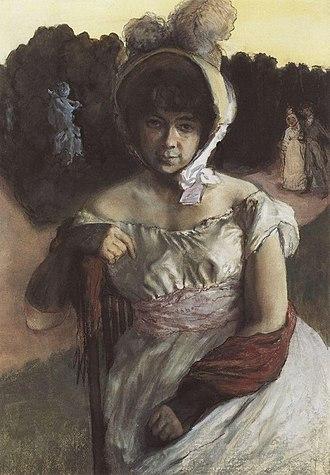 Konstantin Somov - Image: A.K. Benois by K. Somov (1896)