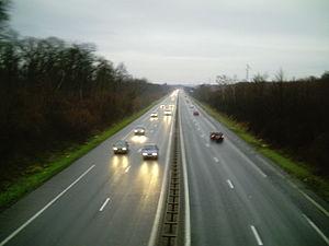 A33 depuis la passerelle de la petite Haye, 50...