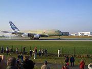 Airbus A380 Hamburg-Finkenwerder´e iniş, 8 Kasım 2005