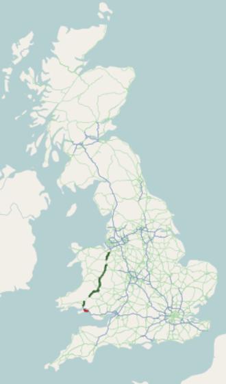 A483 road - Image: A483 road map