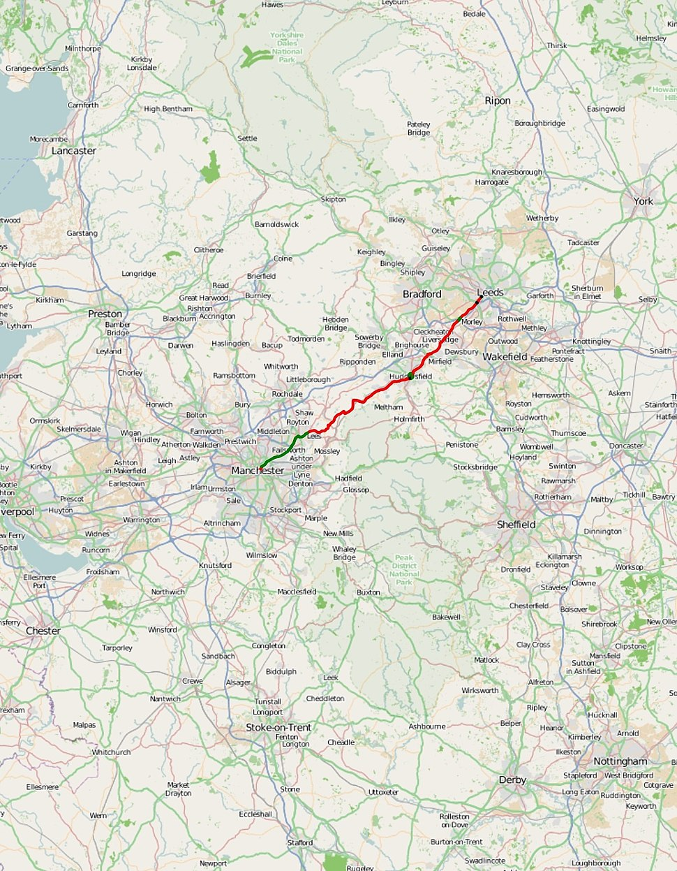 A62 road map