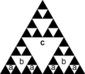 ABACABA Sierpinski triangle.png