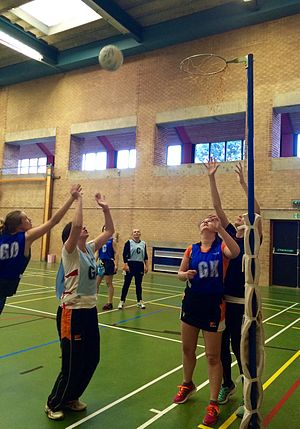 Abbots Bromley - Abbots Bromley netball teams train every Wednesday