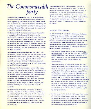 Australian Commonwealth Party - Image: ACP2