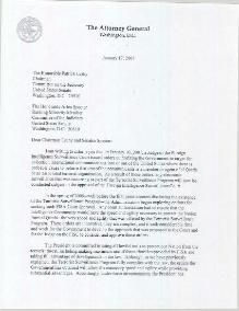 AG letter to Senate leaders regarding FISC decision and conclusion of Terrorist Surveillance Program.djvu