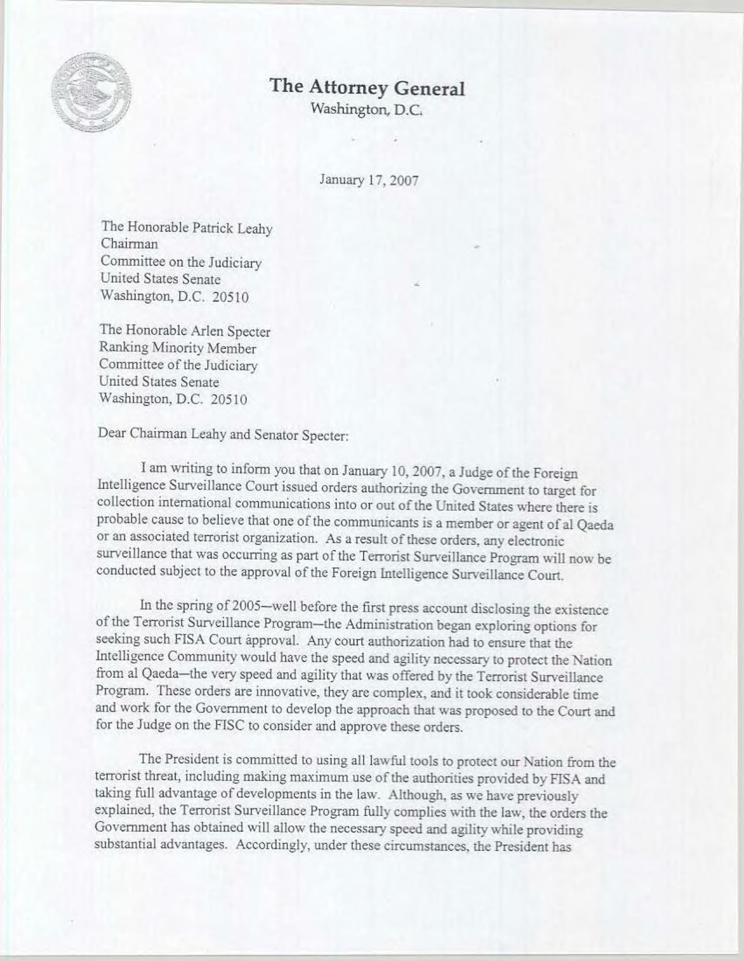 file ag letter to senate leaders regarding fisc decision and