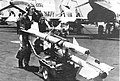 AIM-9B Sidewinder missiles on the flight deck of USS America (CVA-66), 8 June 1967.jpg