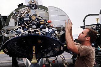 AN/APQ-120 - Image: AN APQ 120 fire control radar in the nose of F 4E Phantom II