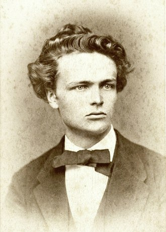 August Strindberg - Portrait of Strindberg in 1874, age 25