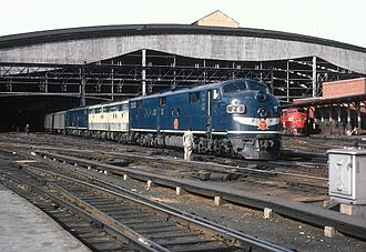 Missouri Pacific Railroad - Missouri Pacific's Colorado Eagle, waiting to depart St. Louis 's Union Station on April 17, 1963