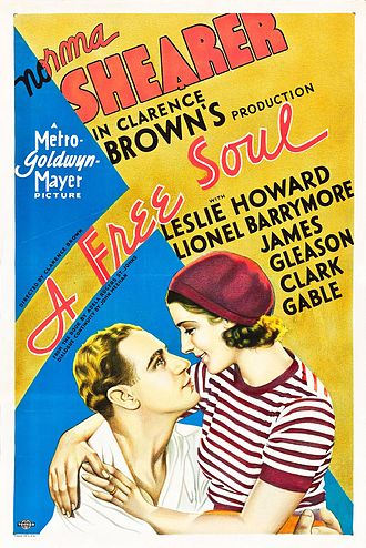 Leslie Howard (actor) - Image: A Free Soul (1931) film poster
