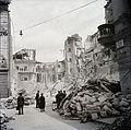 A József utca 50. és 52. romjai az Őr utcából nézve. Fortepan 100809.jpg