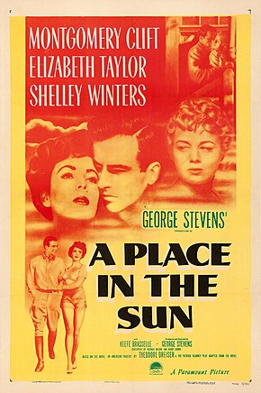 Description de l'image A Place in the Sun (1951 poster).jpg.