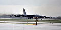 A U.S. Air Force B-52H Stratofortress aircraft taxis onto the runway during a training exercise at Minot Air Force Base, N.D., May 21, 2013 130521-F-RB551-044.jpg