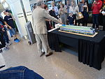 A cake the shape of the UP Express, 2015 06 06 (1) (18581255025).jpg