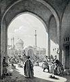 A caravanserai in Isfahan by Eugène Flandin.jpg