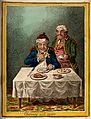 A convalescing man happily eating a meal Wellcome V0011198.jpg
