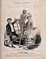 A man is treated to a cascade of water in the name of hydropathy Wellcome V0011765.jpg