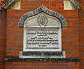 A plaque on Manning Prentice Memorial School, on The Street at High Easter, Essex, England.jpg