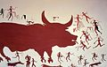 A reconstruction of the aurochs hunting scene in the mural..jpg