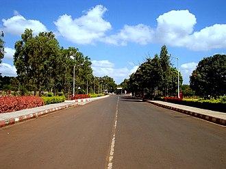 Visvesvaraya Technological University - A road in VTU campus