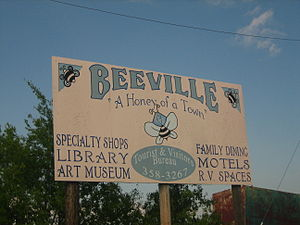 Beeville, Texas - Image: A second Beeville, Texas, sign IMG 0980